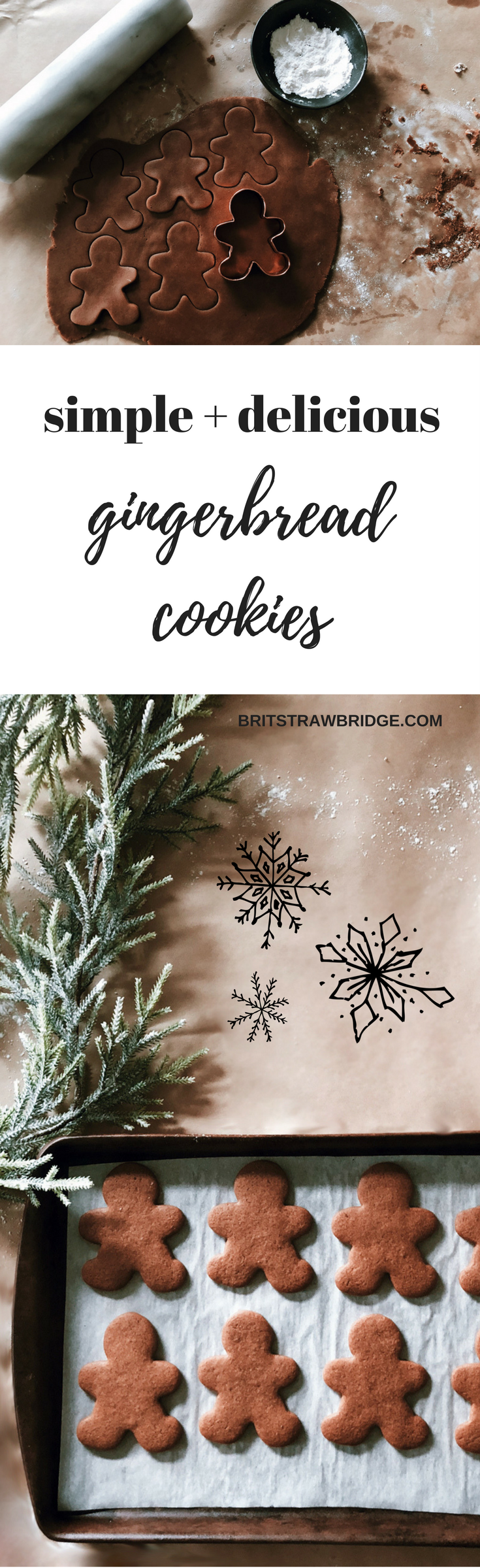 Simple Gingerbread Cookie Recipe | brit strawbridge