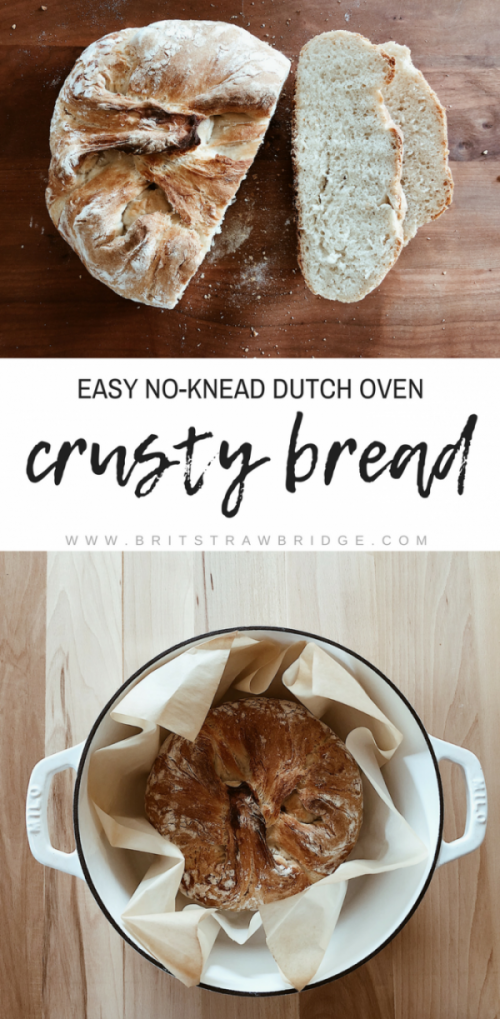 Easy No-Knead Dutch Oven Bread | britstrawbridge