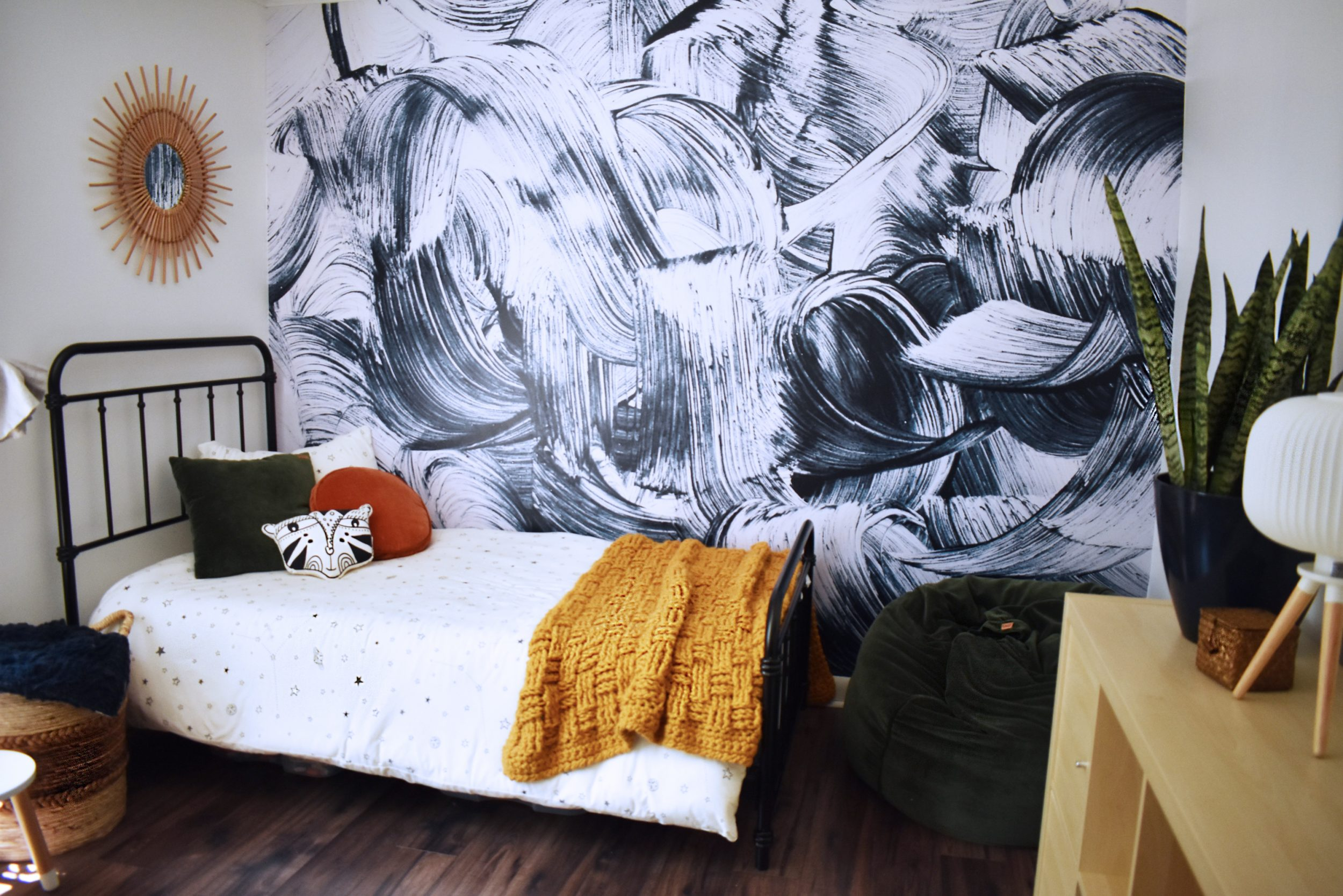 Eclectic Modern Boho Boy's Room for Levi